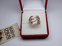 Золотое женское кольцо. Размер 18,2