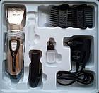 Аккумуляторная машинка для стрижки волос Gemei Gm-555 2 аккумулятора, фото 3