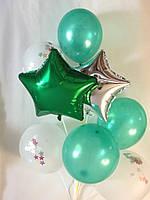 Композиция на 8 воздушных шаров Зеленая