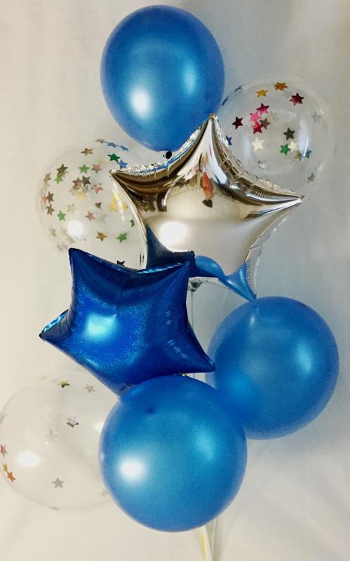 """Композиция из 8 шаров """"Синяя"""""""