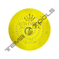 Круг муслиновый полировальный CROWN Ø100 мм, 50 слоев желтый