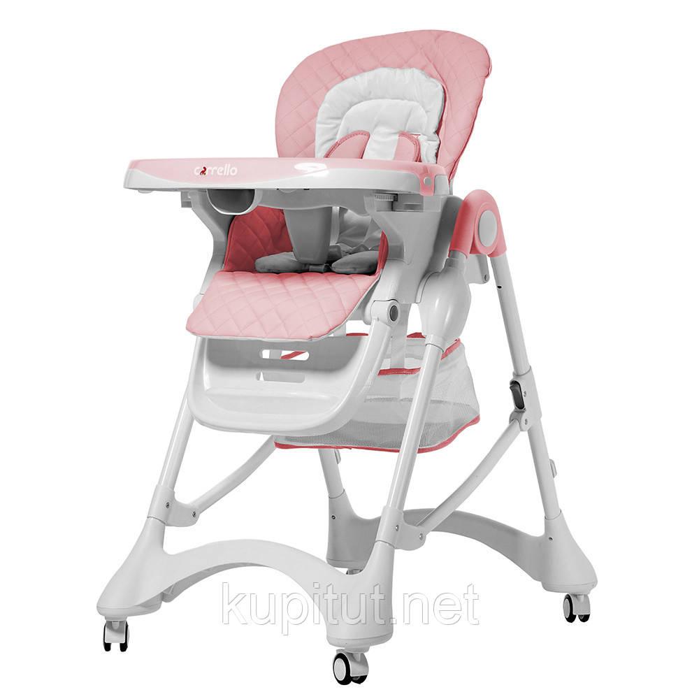 Стульчик для кормления CARRELLO Caramel CRL-9501/3 (Каррелло Карамель) розовый