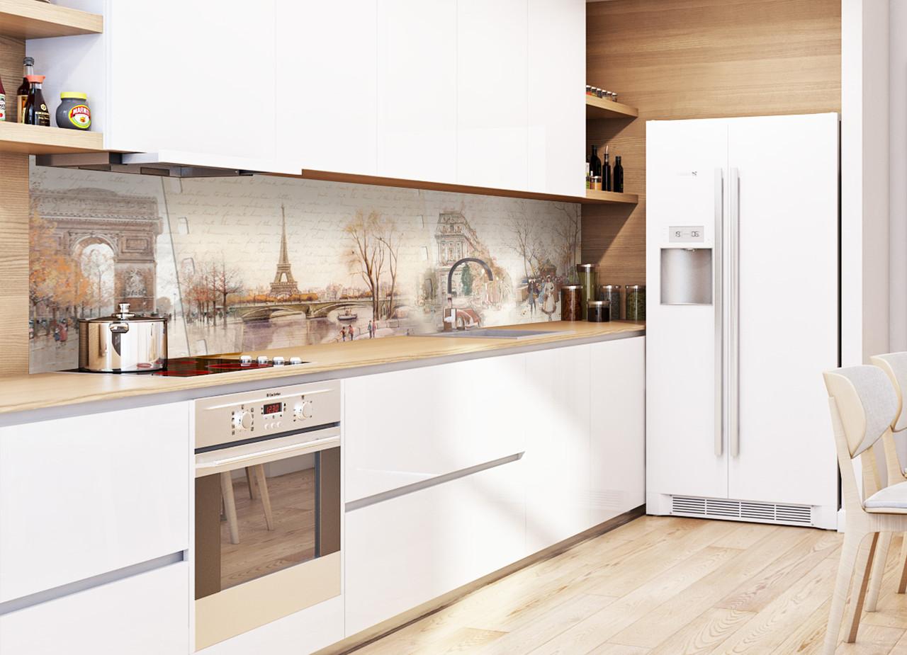 Скинали на кухню Zatarga Ретро 600х2500 мм бежевый виниловая 3Д наклейка кухонный фартук самоклеящаяся