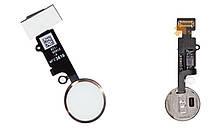 """Bluetooth Кнопка """"Home"""" iPhone 7/8 со шлейфом белая/золотистая Original (кнопка меню/назад)"""