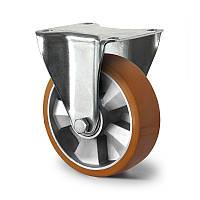 Колесо неповоротне діаметр 160 мм алюміній/поліуретан кульковий підшипник навантаження 350 кг