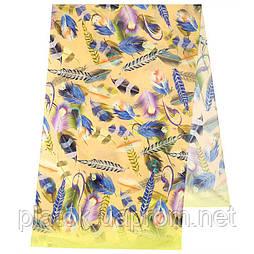 Палантин из вискозы 10811-2, павлопосадский палантин из вискозы, размер 65х200