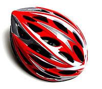Защитный шлем велосипедный с регулировкой. Red (размер: 54-57)