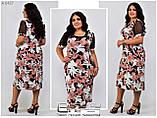 Летнее женское платье Размеры: 54.56.58.60, фото 2
