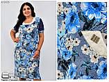 Летнее женское платье Размеры: 54.56.58.60, фото 3
