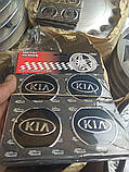 Наклейка эмблема KIA  на колесный диск / колпак d 60 мм, фото 2