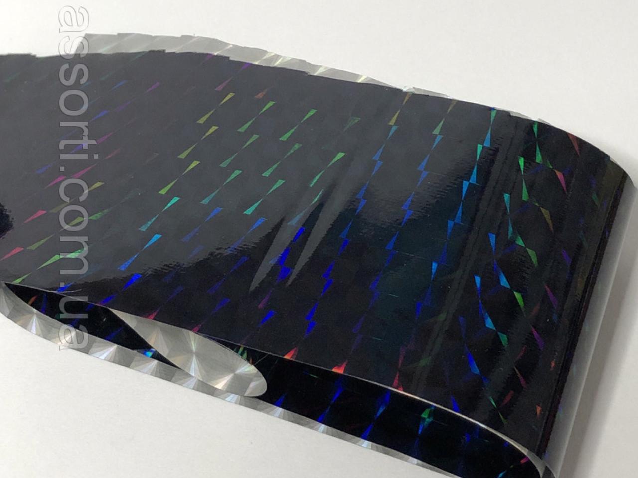 Фольга переводная голография Призма (черная), 1 м