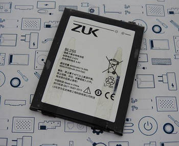 Батарея аккумуляторная BL255 ZUK Z1 ZUKZ1364BAT10 Сервисный оригинал с разборки (до 10% износа)