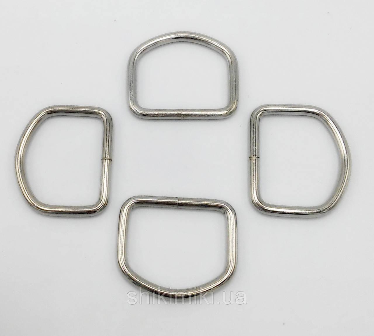 Полукольцо для сумки PK14-1 (30 мм), цвет никель