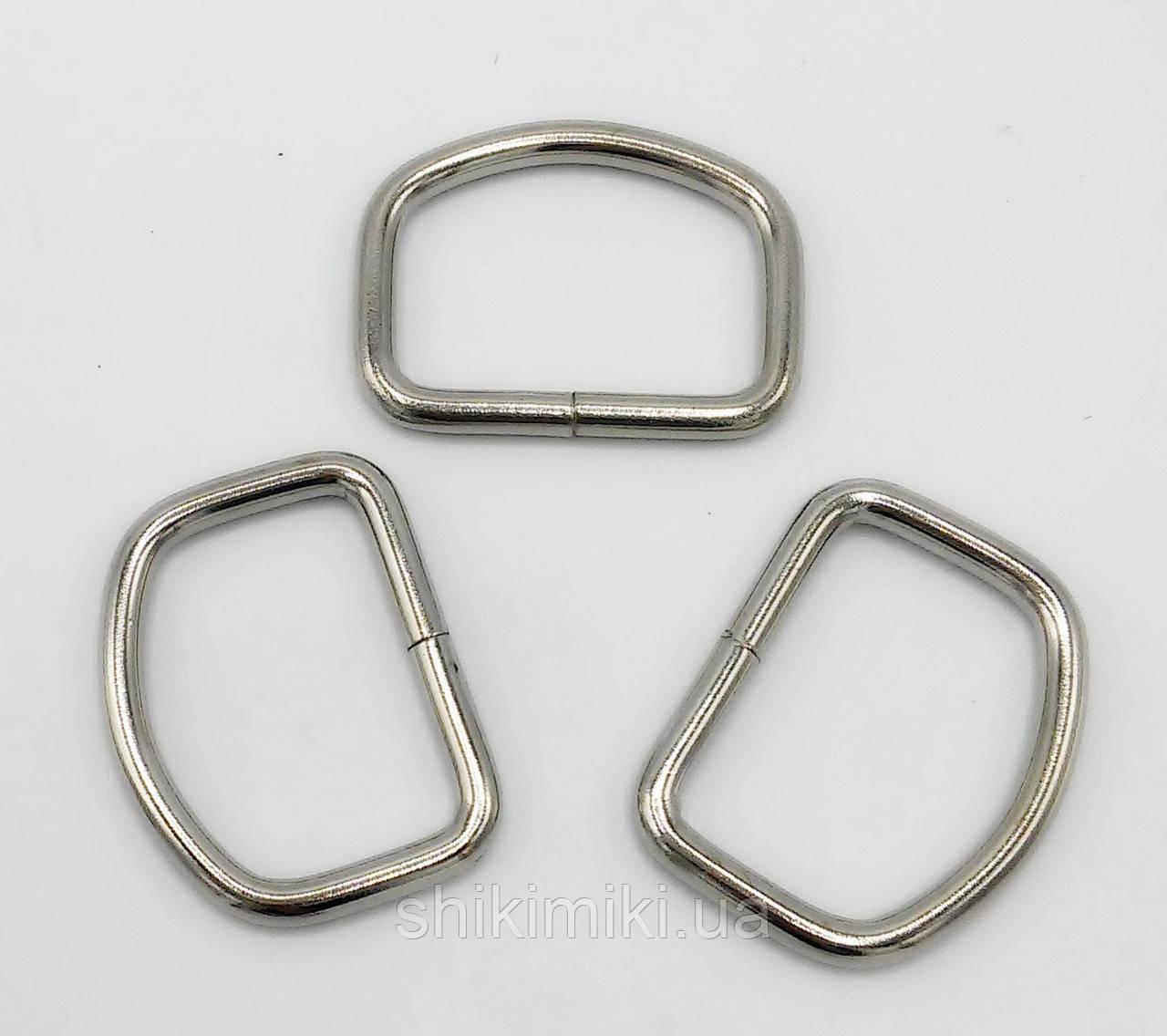 Полукольцо для сумки PK19-1 (35 мм), цвет никель