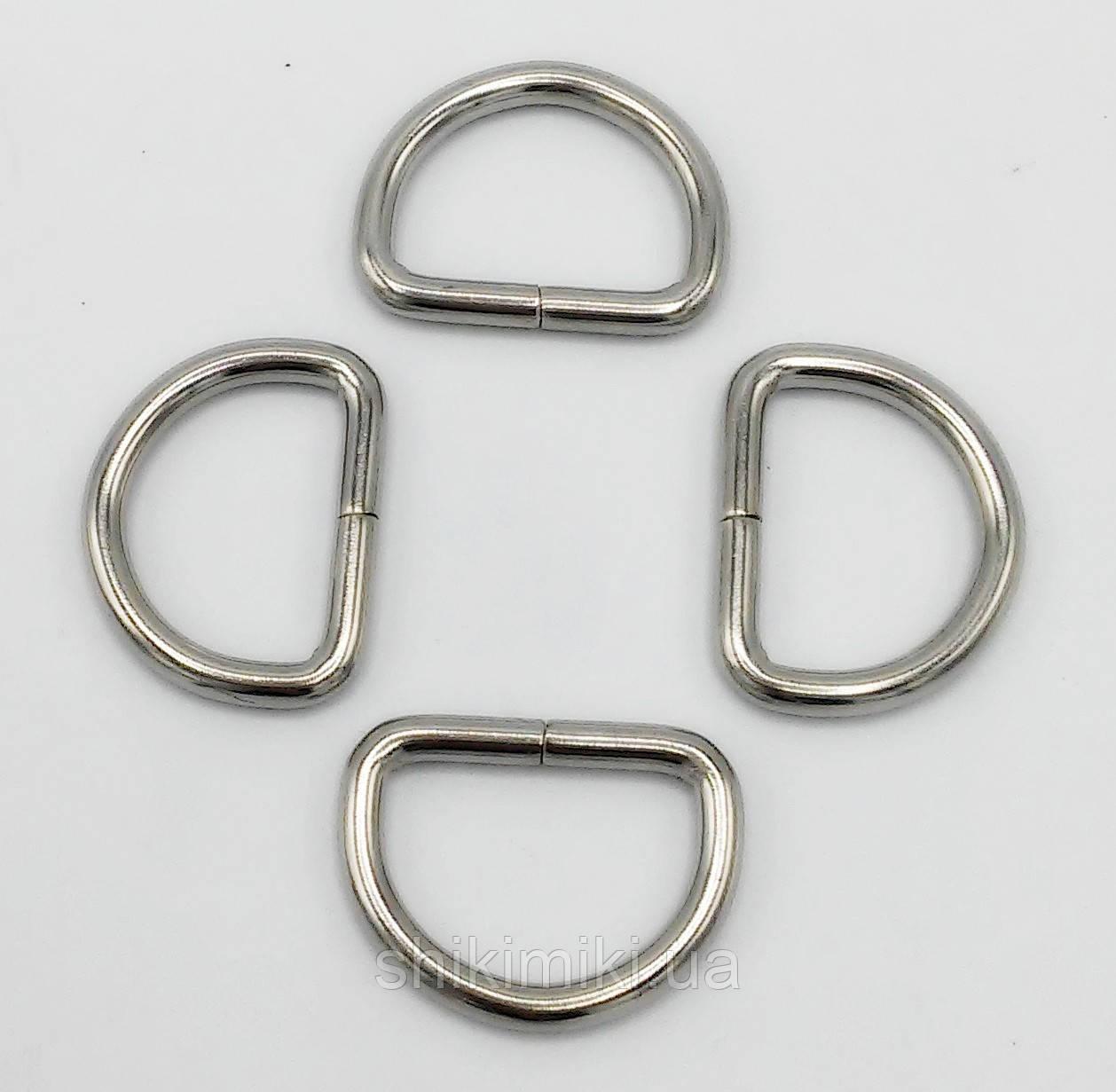 Полукольцо для сумки PK21-1 (25 мм), цвет никель