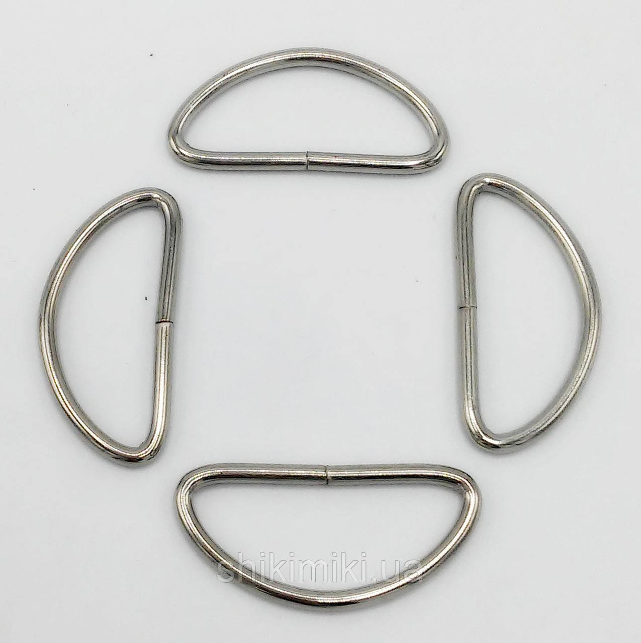 Полукольцо для сумки PK17-1 (40 мм), цвет никель