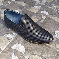 Черные мужские летние туфли