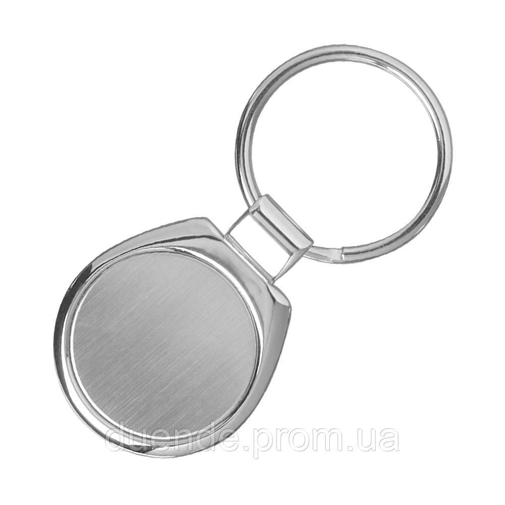 Брелок округлой формы с кольцом под ключ, цвет Серебро - su 95867932