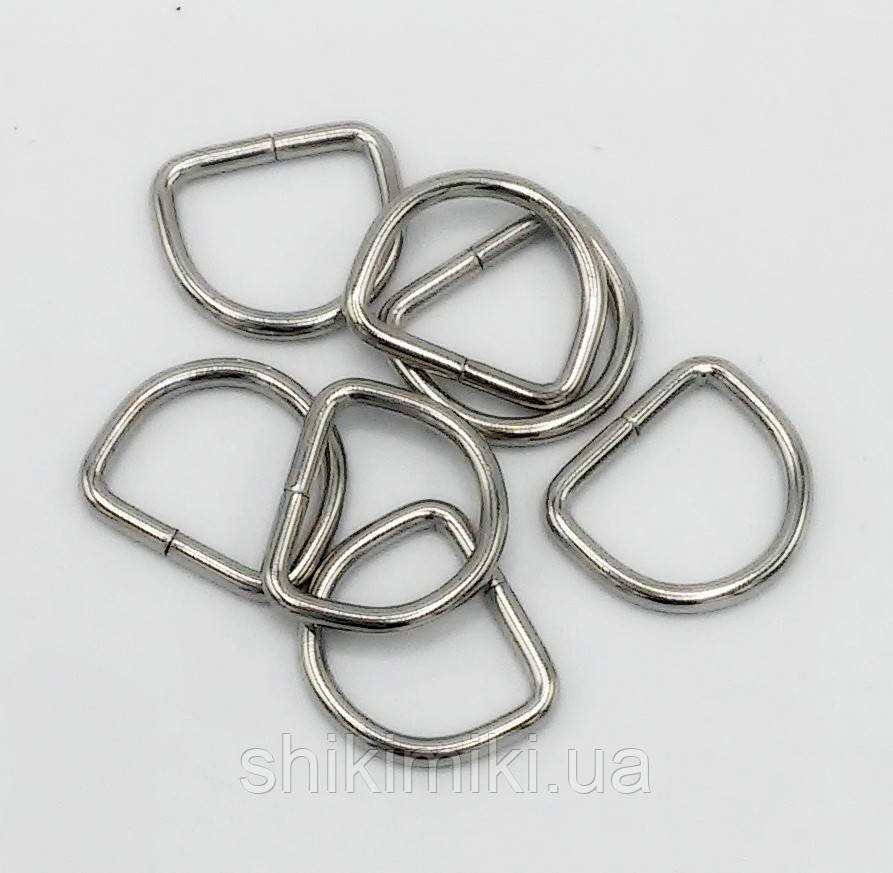 Полукольцо для сумки PK13-1 (15 мм), цвет никель