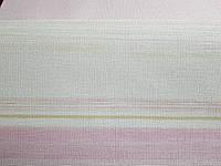 Виниловые обои Grandeco Fiore  FО4001  полосы широкие и узкие розовые коричневые бежевые