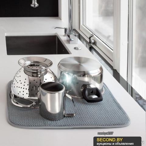 Коврик для сушки посуды из микроволокна(Smart, Швеция) серый
