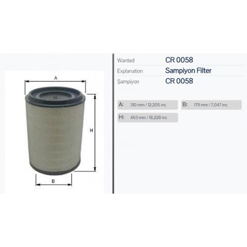 LX604/1, Фильтр воздушный LX604/1 SCANIA