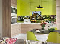 """Наклейки кухонный фартук Zatarga """"Сказочный домик"""" 600х2500 мм зеленый"""