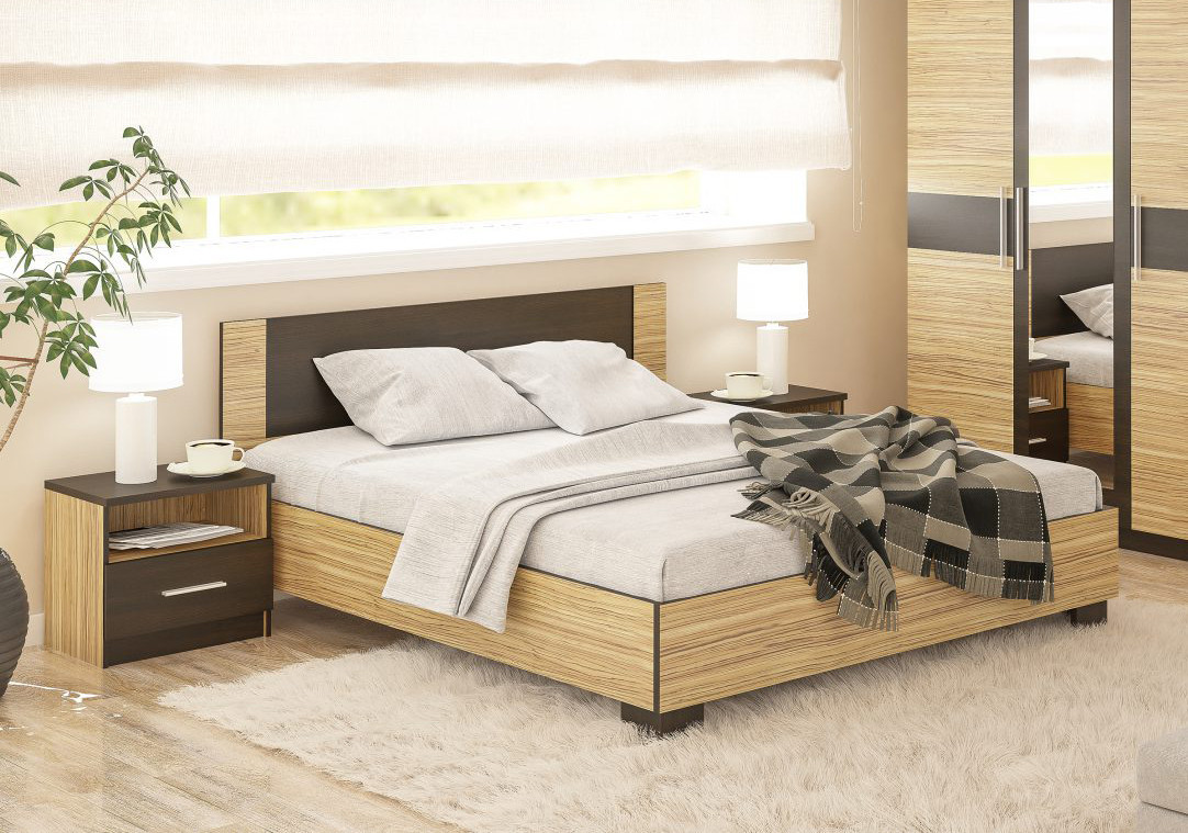 """Ліжко 140 """"Вероніка"""" від Мебель Сервіс (зебрано)"""