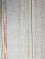 Виниловые обои Grandeco Fiore  FО4002  полосы широкие и узкие серые коричневые красные