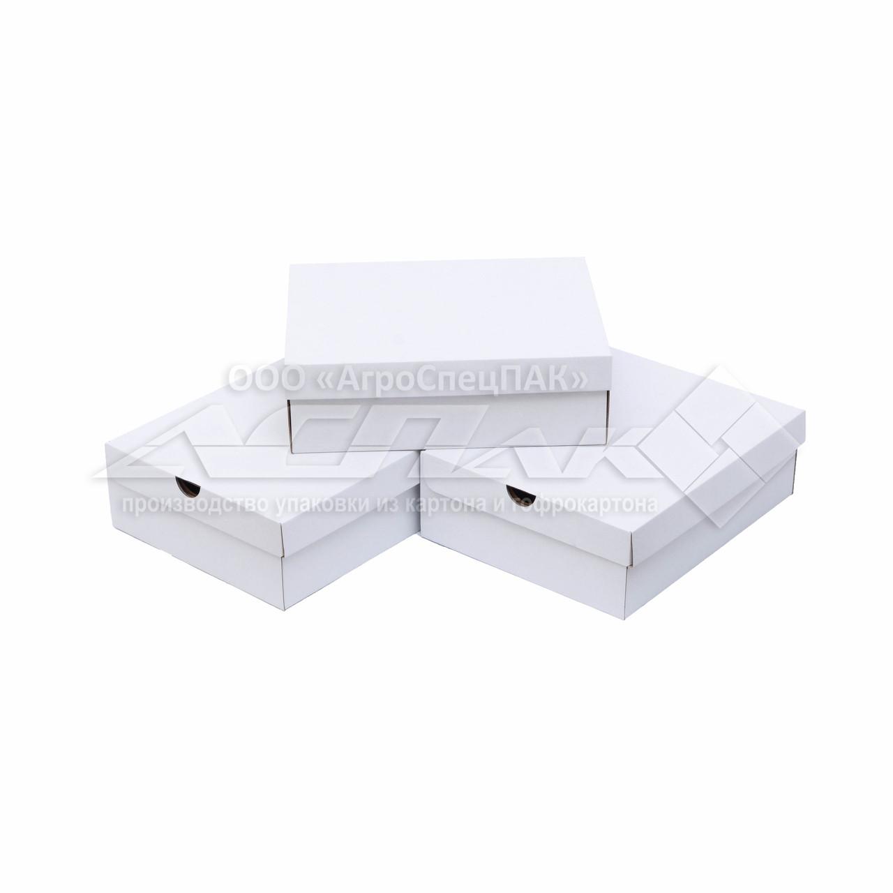 Обувная коробка 350x280x110 белая
