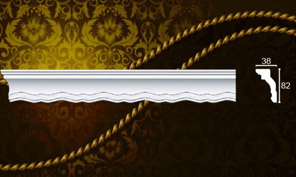 Плинтус потолочный Формат 09011KD 38*82мм 2м