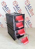Сортовик КБ-4, прозрачный, размер блока/ящика (ШхГхВ): 95х124х188мм/86х120х44мм, фото 1