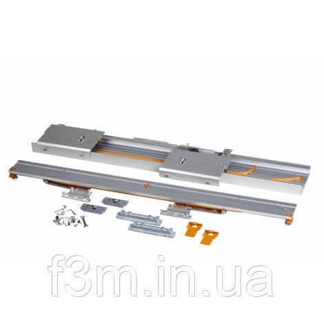 Компланарная раздвижная система UNA LINEA на 2 двери с функцией плавного доведения: L=2200 мм, Movimento