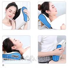 Роликовый Массажер для спины и шеи (массажная подушка большая) Massage 60 w, фото 3