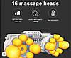 Роликовый Массажер для спины и шеи (массажная подушка большая) Massage 60 w, фото 2