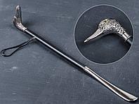 Рожок-лопатка для обуви, голова гуся, металл, ОМ-1607, длинна 680 мм
