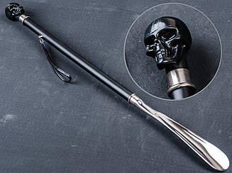 Рожок-лопатка для обуви, череп, металл, ОМ-1607, длинна 680 мм