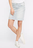 Юбка джинсовая в полоску Laura Skirt от Mustang в размере W28