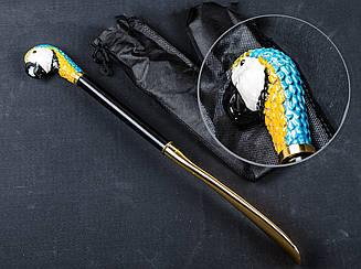 Рожок-лопатка для обуви, голова попугая, MAXIMILIAN, OM-1608, 530 mm