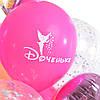 Композиция: цифра 2 и связка: сердце Принцессы, 2 розовых сердца, 7 шариков Доченьке и 3 шара с конфетти, фото 4