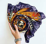 Палантин из вискозы 10813-16, павлопосадский палантин из вискозы, размер 65х200, фото 3