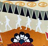 Палантин из вискозы 10813-16, павлопосадский палантин из вискозы, размер 65х200, фото 7