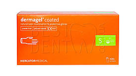Перчатки DERMAGEL Coated,100шт/упак (S)