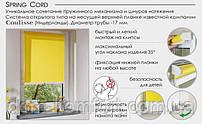 Сочетание пружинного механизма с натяжением шнуров. Компактные ролеты на окне диметр 17мм, Сoulisse(Голандия)