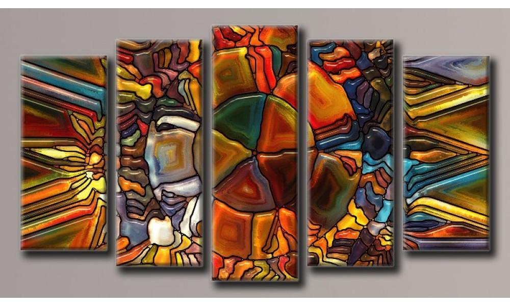 Модульная картина Мозаика-3 71х128 см (HAB-064)
