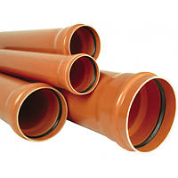 Труба для зовнішньої каналізації ПВХ 400x11,7 SN8 6000 мм