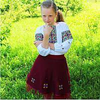 Детский вышитый комплект : блуза с юбкой, фото 1