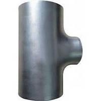 Тройник стальной неравнопроходной оцинкованный 133x4/108x4