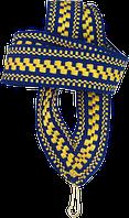 """Лента для медали """"сине-жёлтый орнамент"""" 20 мм"""