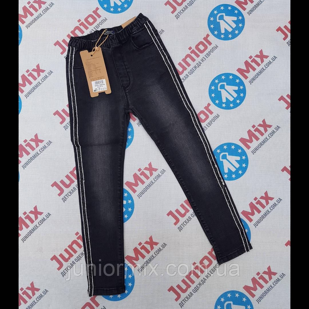 Черные подростковые джинсы для девочек оптом GRACE  134---164см.